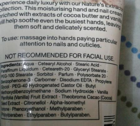 Marks & Spencer- Natures Extracts Pampering Cocoa Butter Moisturising Hand & Nail Cream