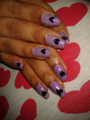 Easy at Home Nail Art - Dont Phunk with my Heart