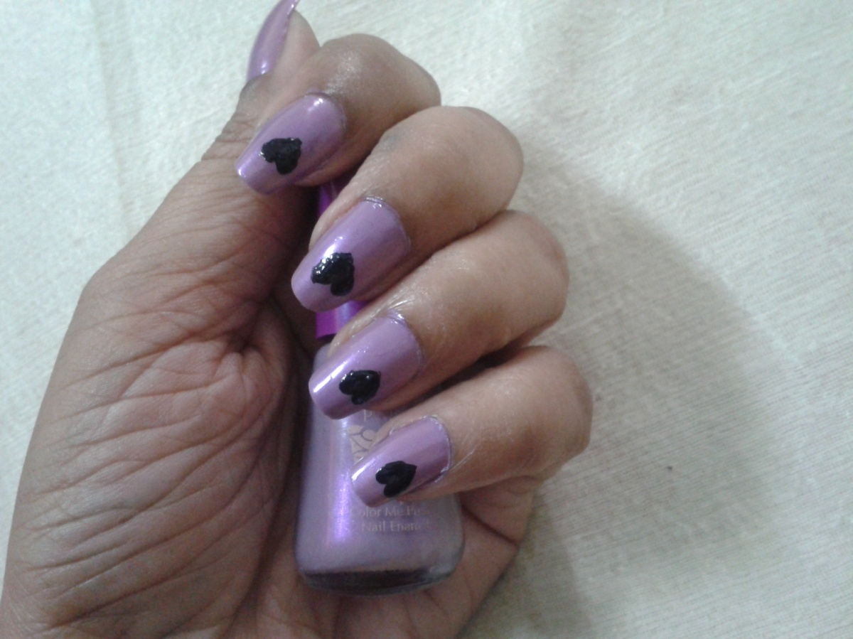 easy at home nail art 4 dont phunk with my heart the nail art and beauty diaries. Black Bedroom Furniture Sets. Home Design Ideas