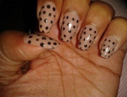 Easy At Home Nail Art - Retro with Polka Dots