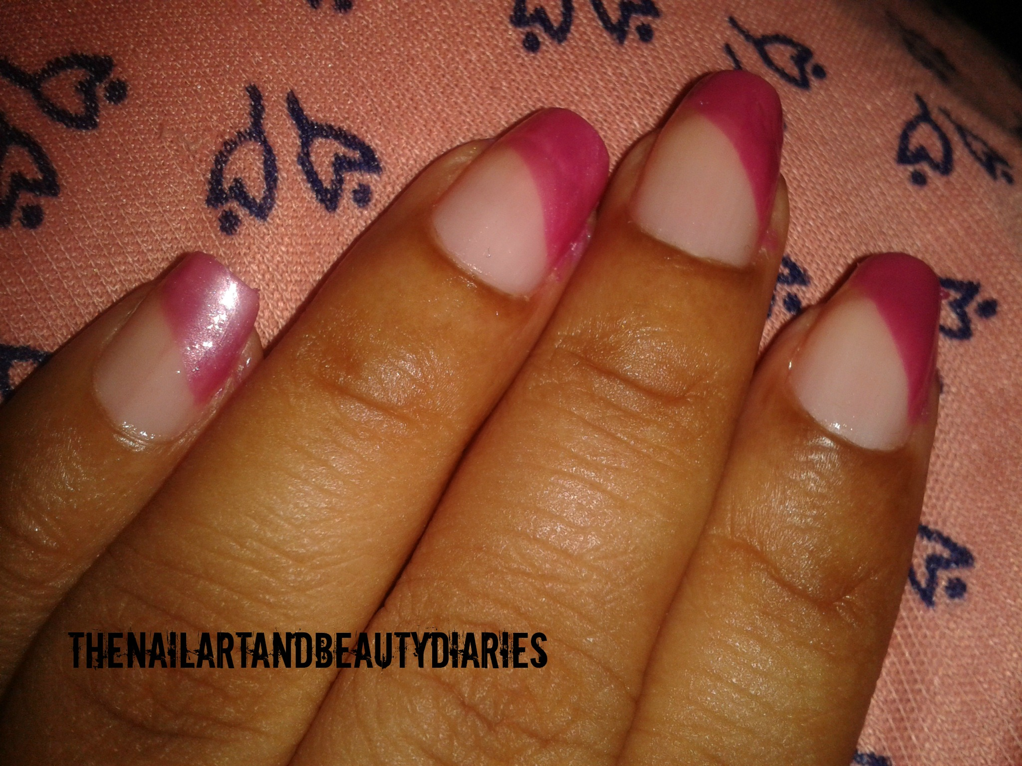 How to Chain your nails in Pink
