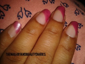Chained In Pink Nail Art
