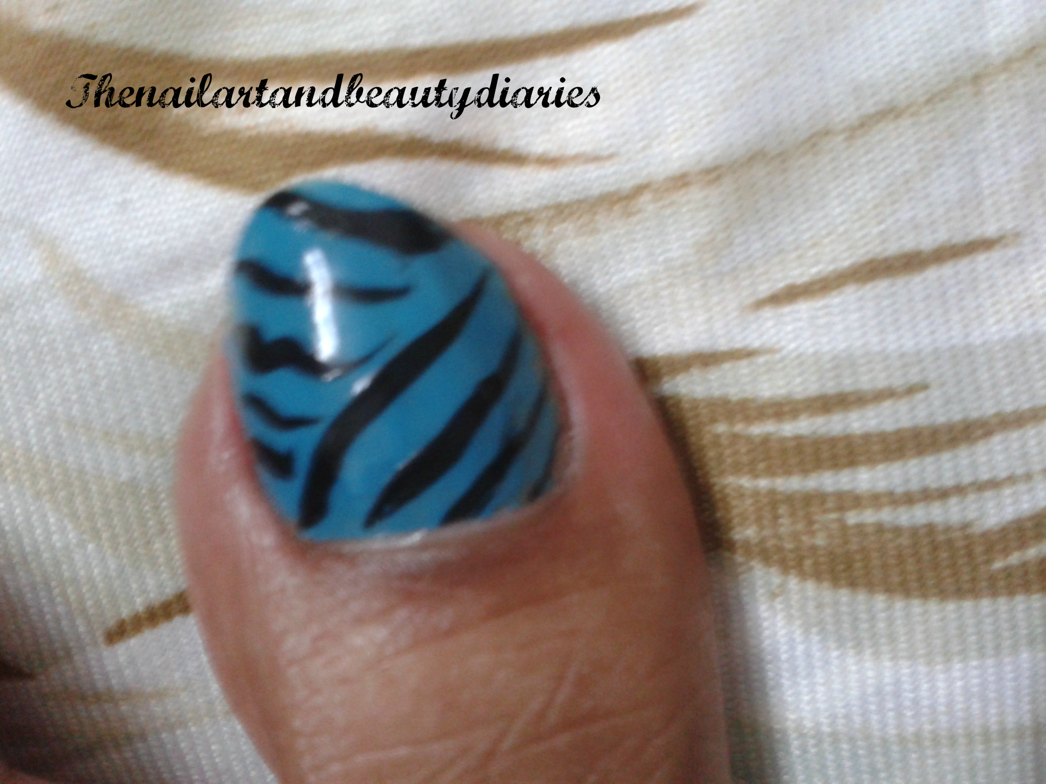 Easy at Home Nail Art 11 – Zebra Nail Art for Foot | The Nail Art ...