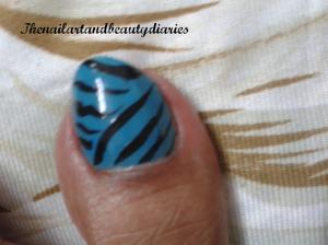 Easy Zebra Stripes Nail Art Toe Blog