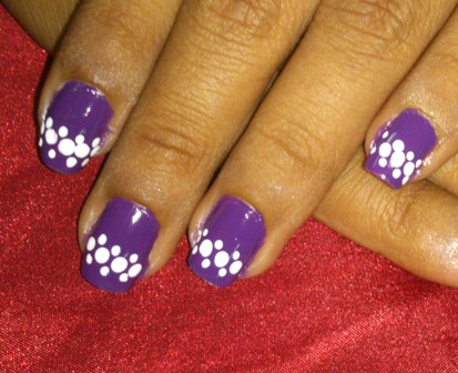 Easy At Home Nail Art 8 The Dotty Lacy Purple The Nail Art And