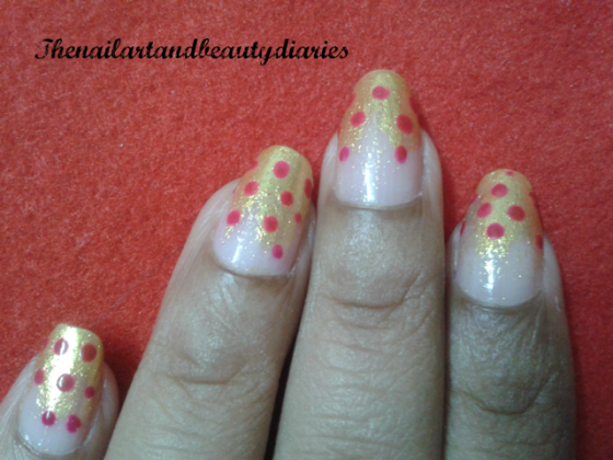 Snow capped in Gold Nail Art