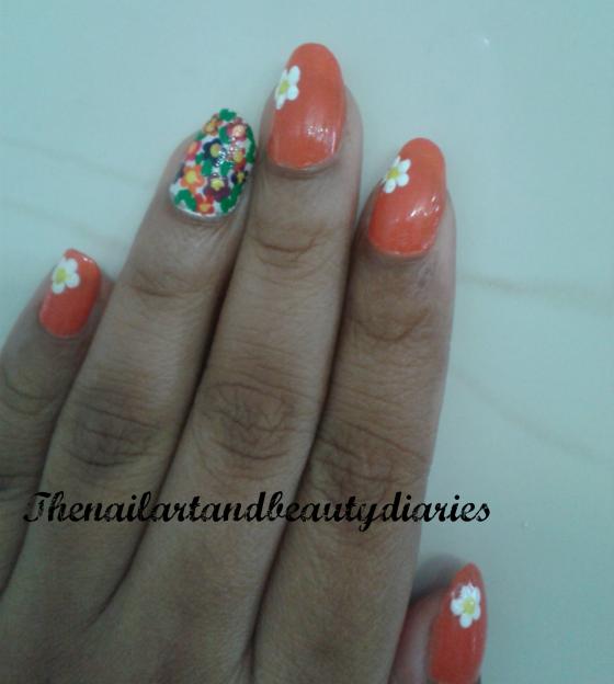 Blooming Spring Nail Art