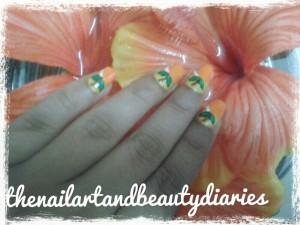 The Fruity Orange Nail Art