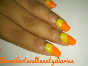 The Fruity Orange Nail Art