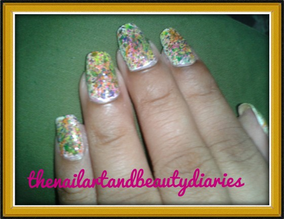 Easy At Home Nail Art- The Splashes of Colors
