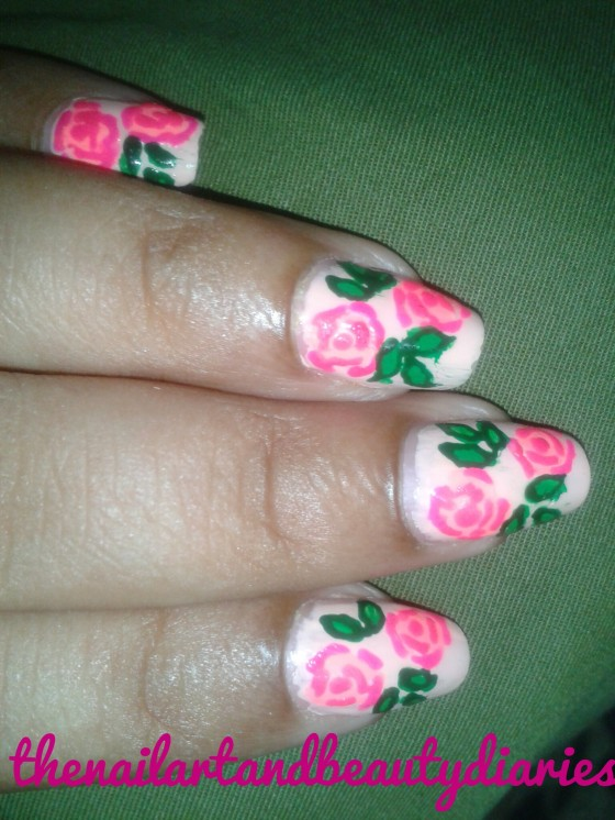The Vintage Rose Nail Art