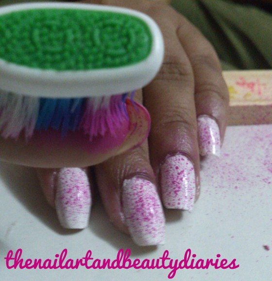 Easy At Home Nail Art- The Splashes of Colors- Process