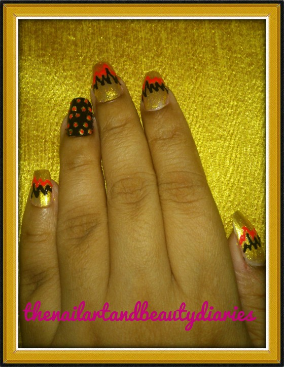 High and Low Crests nail Art