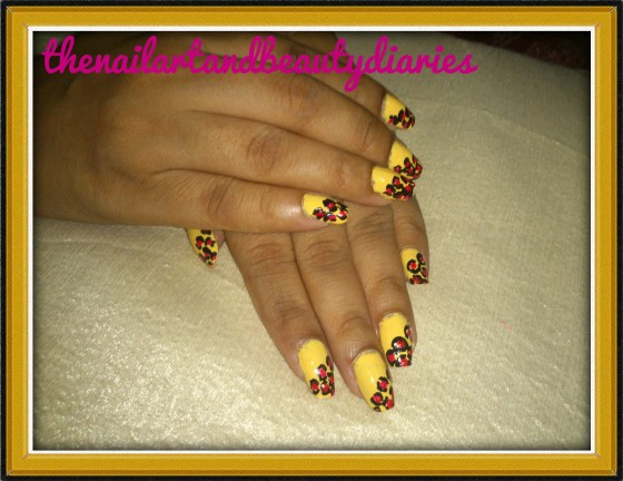 The Leopard Print Nail Art with an Oomph
