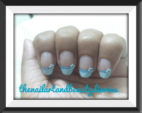 The Bride's Veil in Blue Nail Art