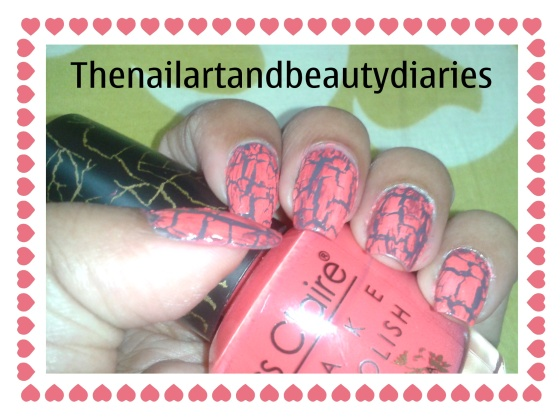 Nail Art with Crackle Nail Paint