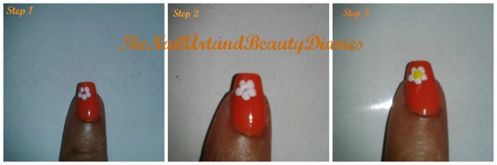 How to Draw Flower for Nail Art Step By Step