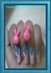 Cute Bunny Nail Art