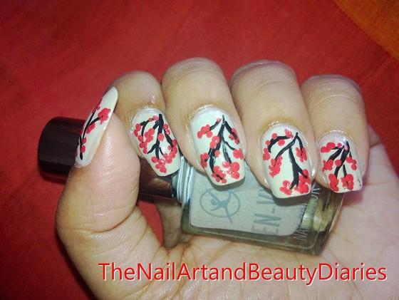 Cherry Blossom Nail Art