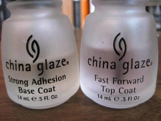 China Glaze Base Coat and Top Coat