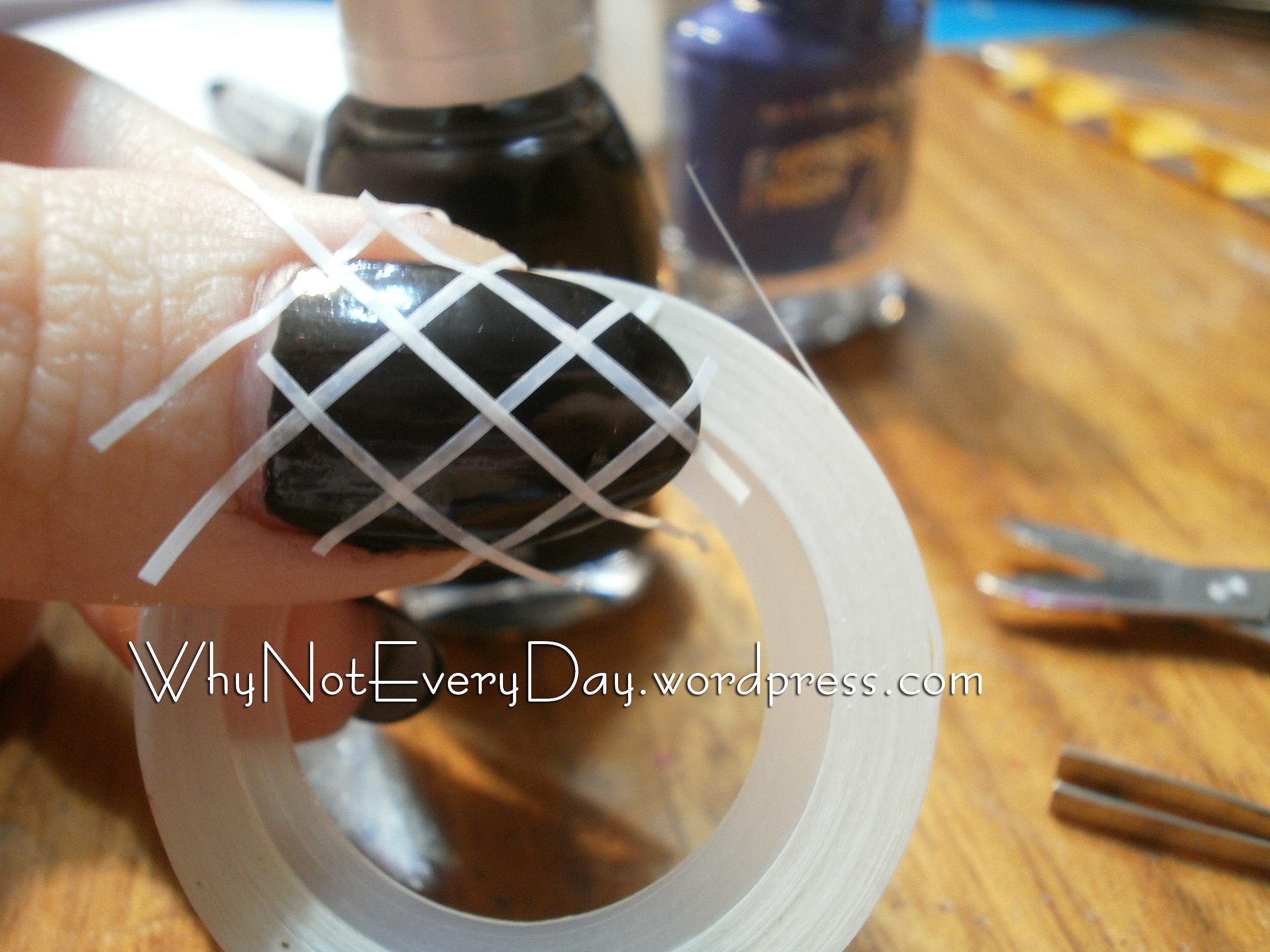 Easy at home nail art 19 striping tape nail art for beginners olympus digital camera prinsesfo Choice Image