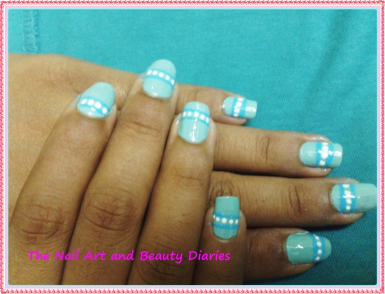 The Caribbean Ice Berg Nail Art