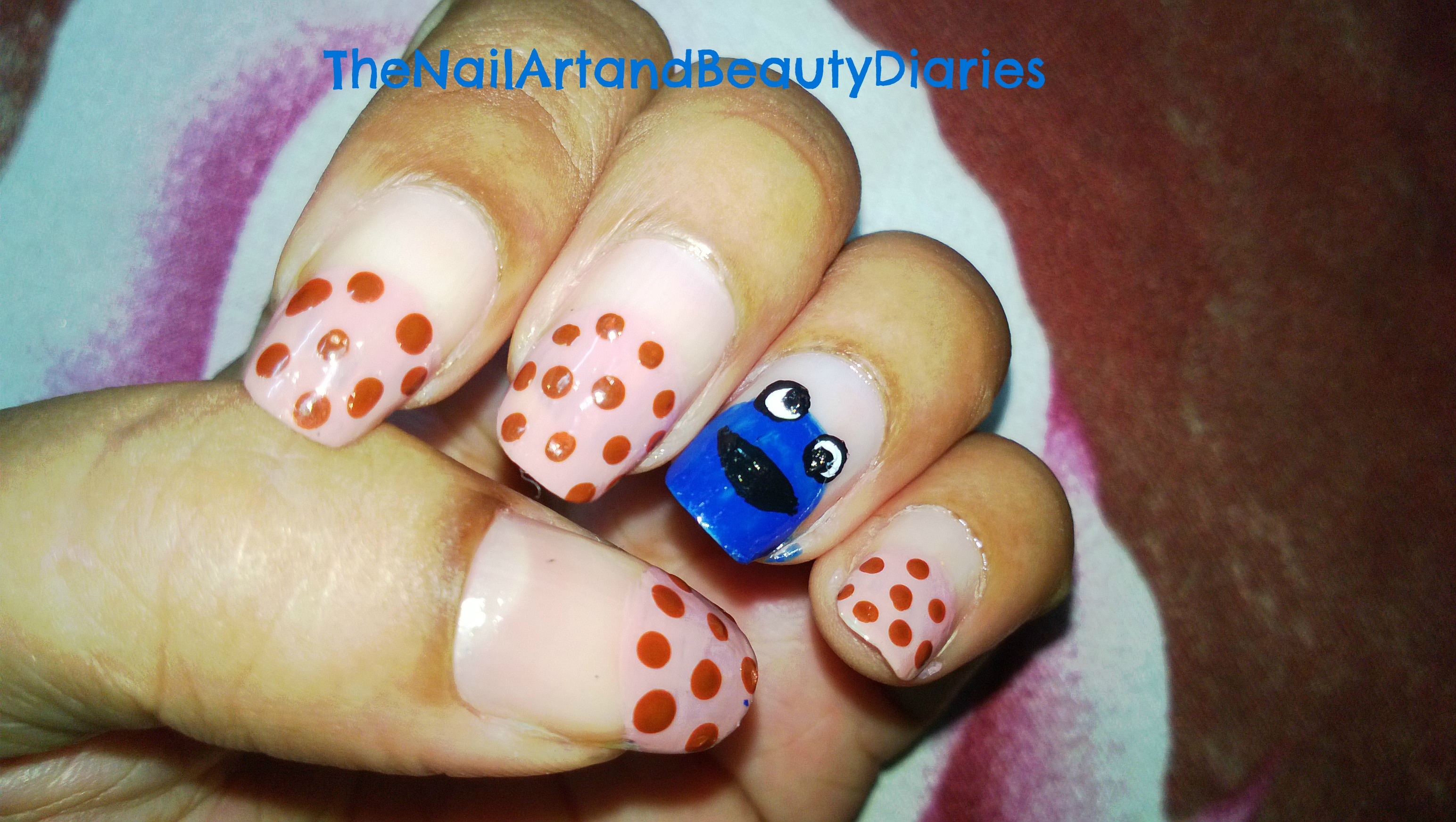 The Cookie Monster Nail Art The Nail Art And Beauty Diaries