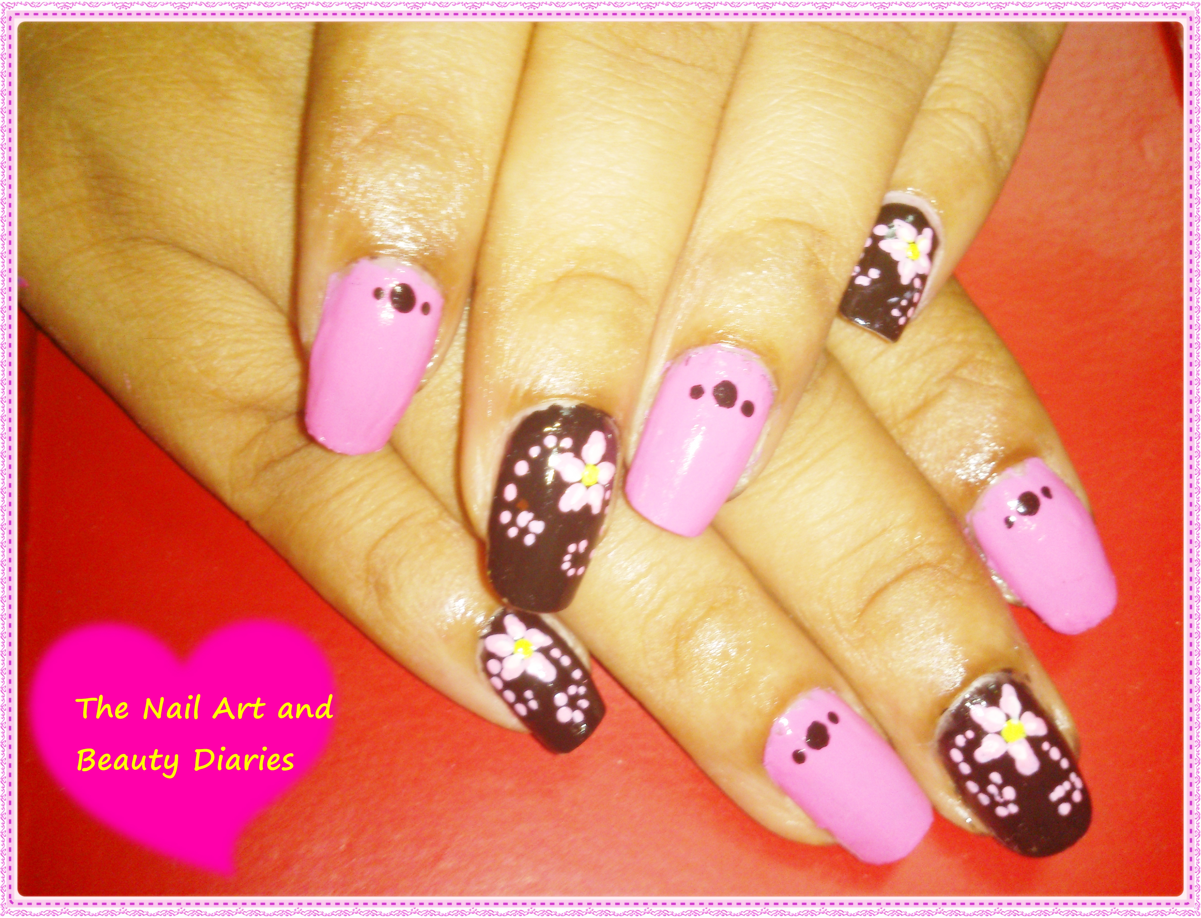Easy at home nail art 22 the pink fairy and the black witch nail the pink fairy and the black witch nail art prinsesfo Images