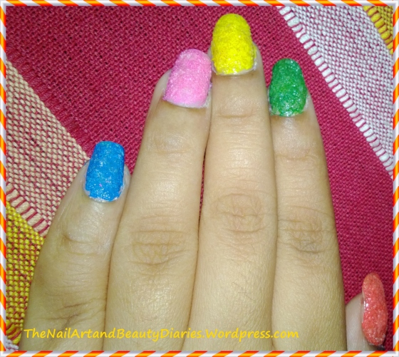 DIY-Texured Summer Nails