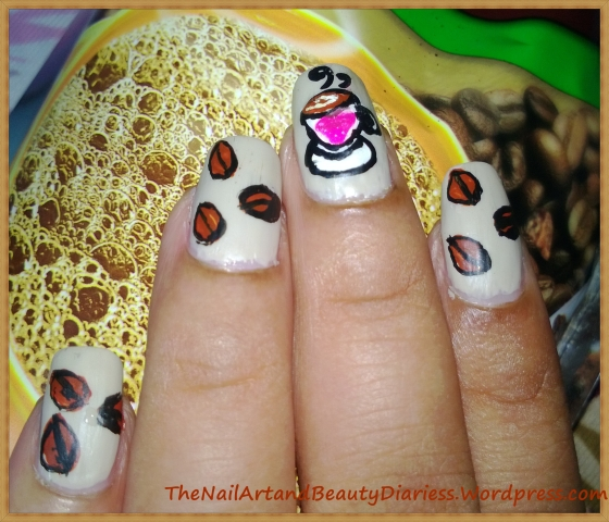 I love Coffee Nail Art