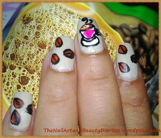 I love Coffee Nail Art