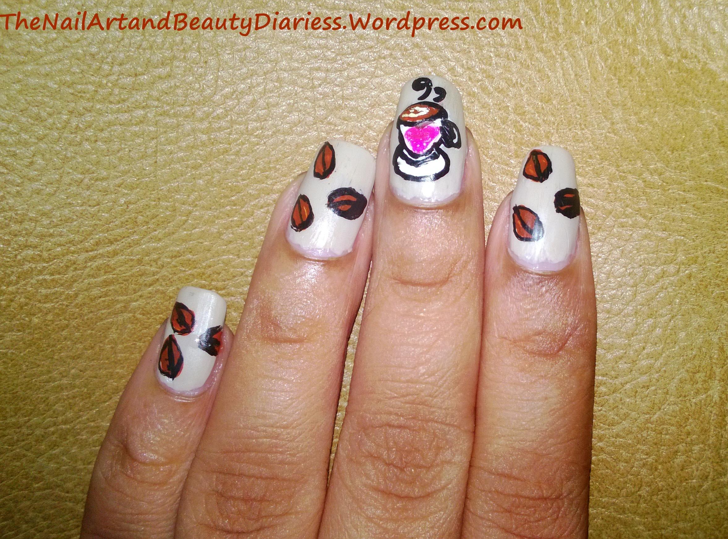 I Love Coffee Nail Art The Nail Art And Beauty Diaries