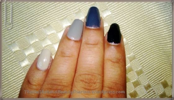Shades Of Grey Nail Art