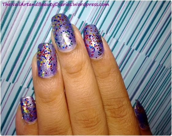 The Dazzling Purple Nail Art 2