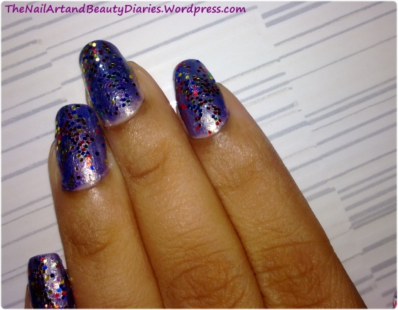 The Dazzling Purple Nail Art