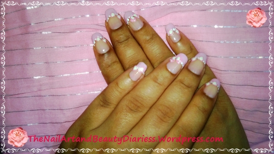 The Lace and Bow Nail Art