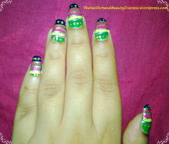 Traditional Indian Lehenga Inspired Nail Art