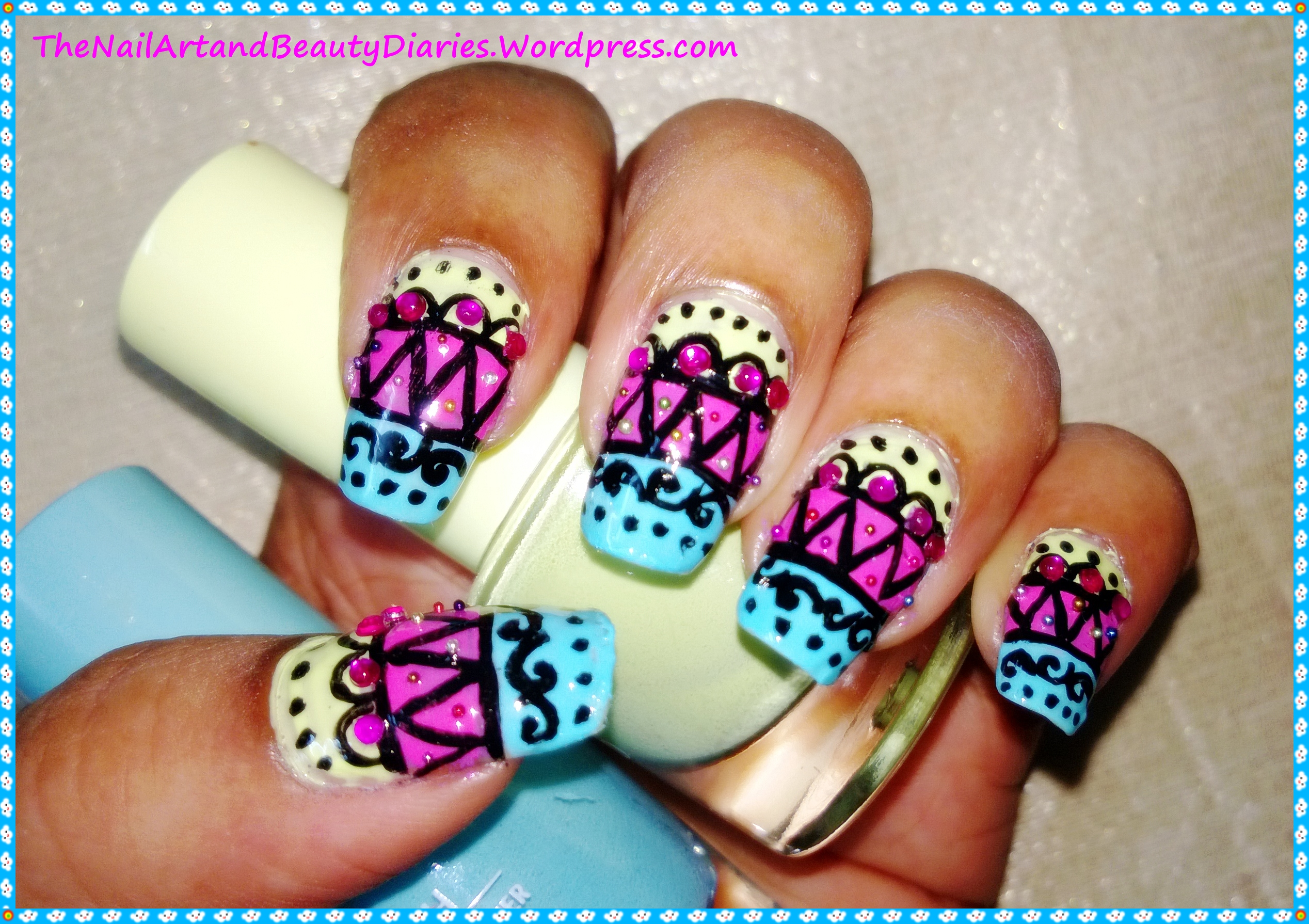 The Jewellery Inspired Nail Art with Indian Attire Touch | The Nail ...