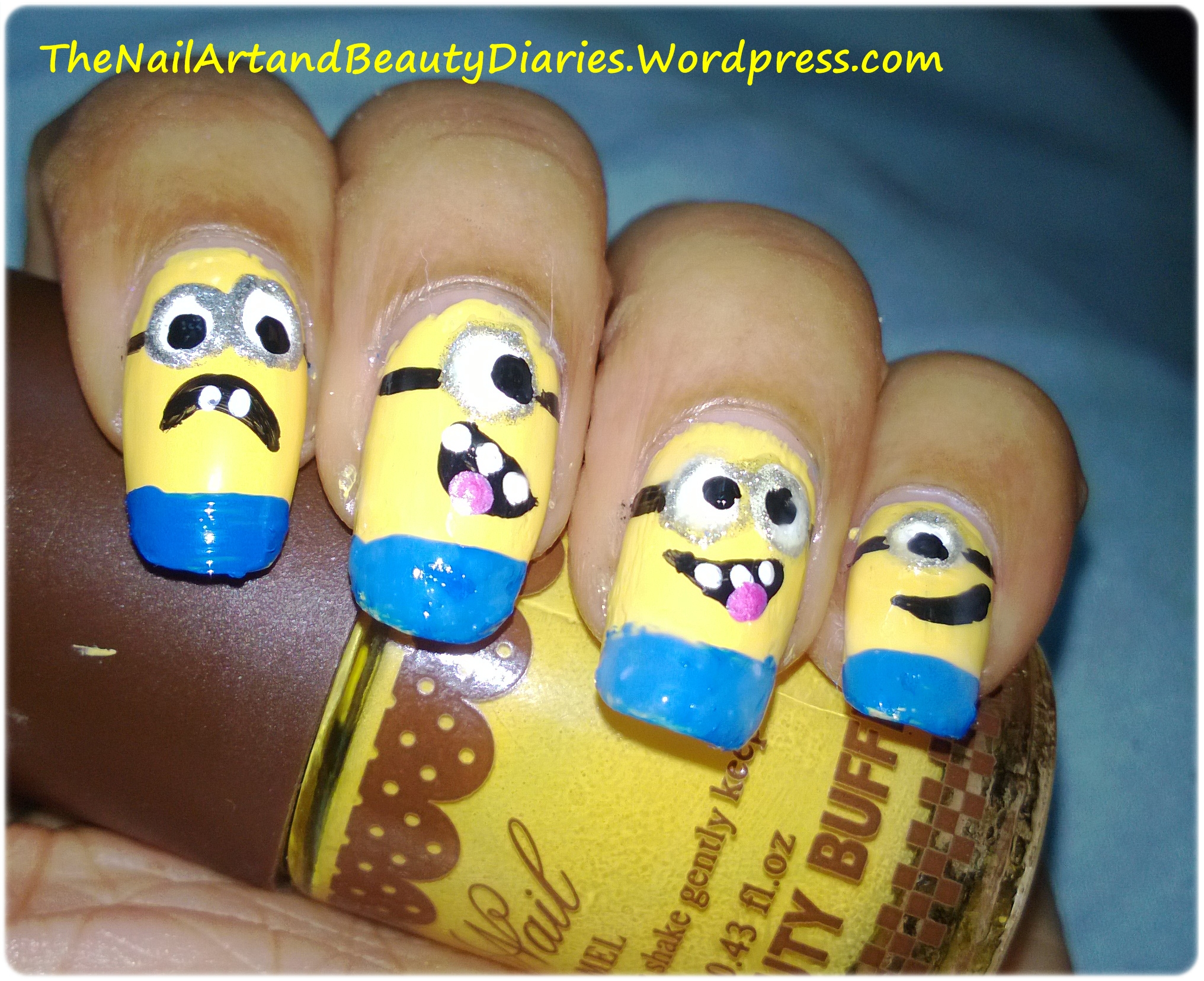The Despicable Me Movie Inspired Nail Art | The Nail Art and Beauty ...