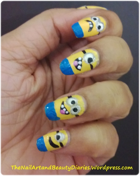 Despicable Me Movie Inspired Nail Art