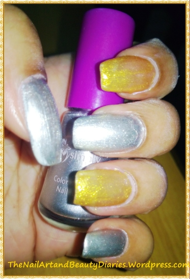Metallic in Silver and Gold Nail Art