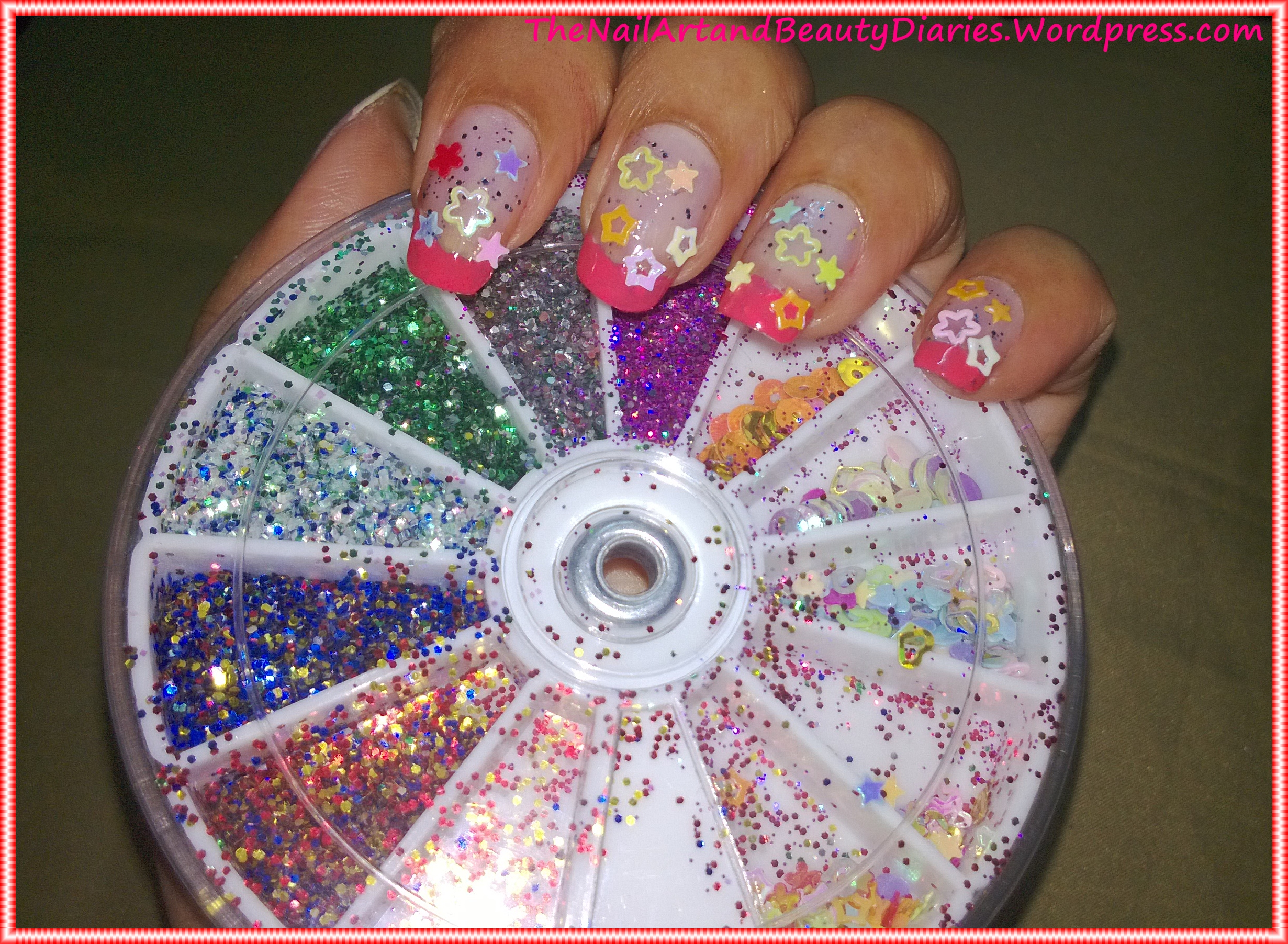 The Glitters and Stars Nail Art   The Nail Art and Beauty Diaries