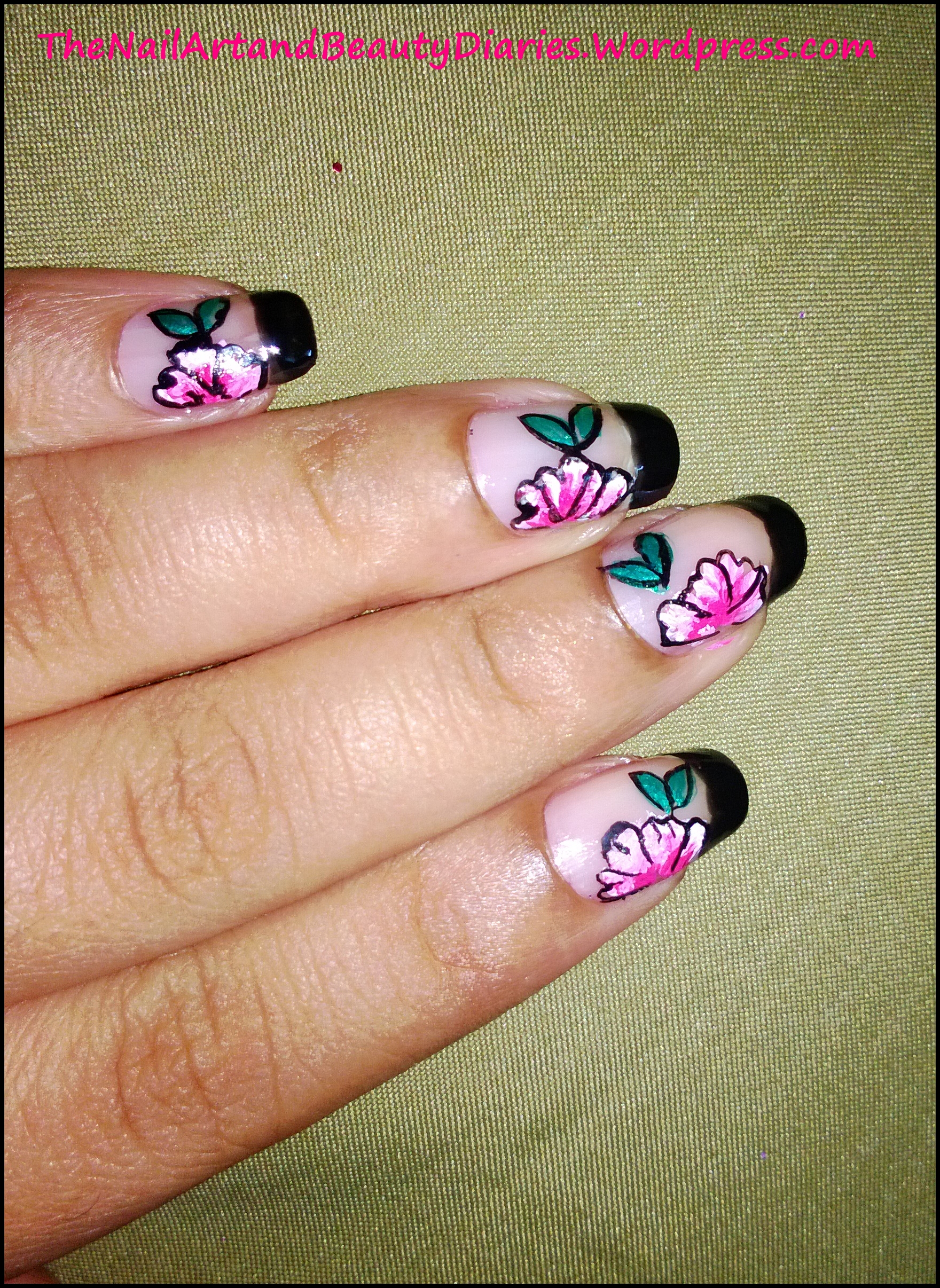 Floral Nail Art – My first attempt at One Stroke Painting | The Nail ...