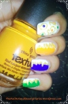 Indian Independence Day inspired Nail Art