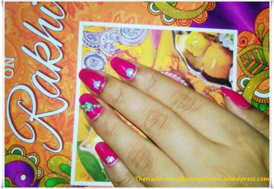 Rakshbandhan Inspired Nail Art