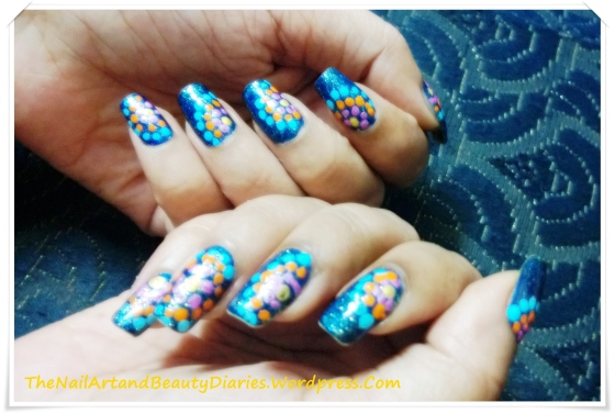 Dots in the Night Sky Nail Art