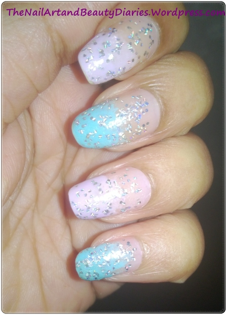 Shimmer in Pastel Nail Art