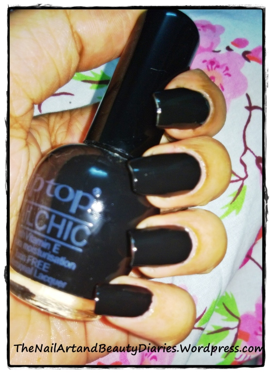 Tip Top Black Nail Polish Review