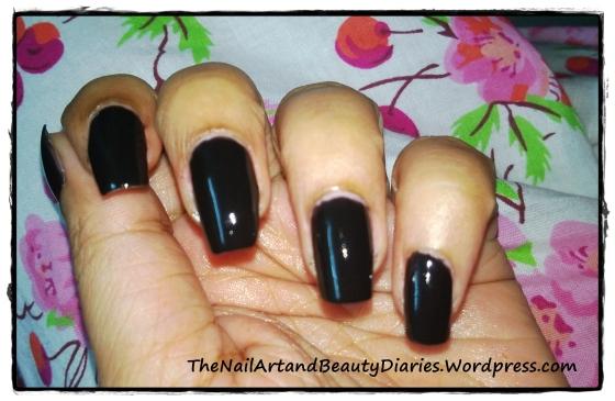 Tip Top Black Nail Polish Review
