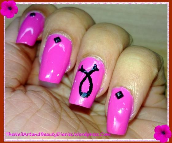 Breast Cancer Awareness Nail Art 7